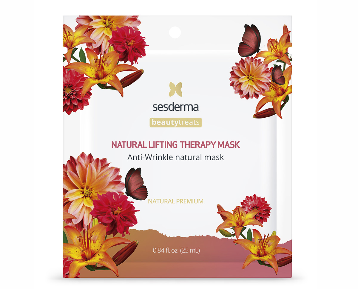 SESDERMA,МАСКА АНТИВОЗРАСТНАЯ ДЛЯ ЛИЦА NATURAL LIFTING THERAPY MASK, BEAUTYTREATS